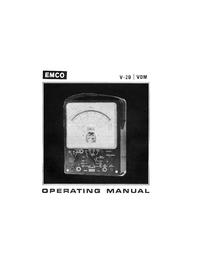 Bedienungsanleitung mit Schaltplan Emco V-20