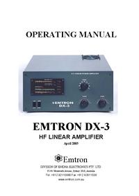 Manual do Usuário, Cirquit Diagrama Emtron DX-3