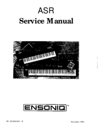 Manual de servicio Ensoniq ASR-10