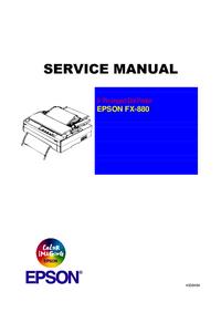 Serviceanleitung Epson FX-880