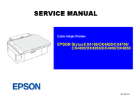 Service Manual Epson Stylus CX4200