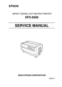 Руководство по техническому обслуживанию Epson DFX-8500