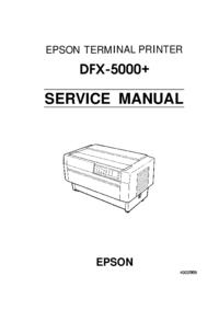 Service Manual Epson DFX-5000+