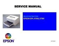 Manual de serviço Epson EPL-5700L