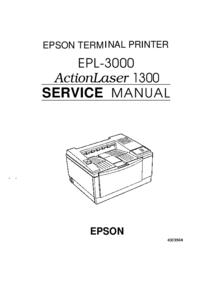 Руководство по техническому обслуживанию Epson ActionLaser 1300