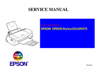 Manual de servicio Epson Stylus COLOR 670