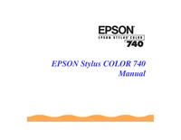 User Manual Epson Stylus Color 740