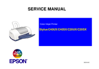Service Manual Epson Stylus C40UX
