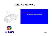 Service Manual Epson STYLUS COLOR 580