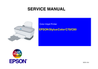 Service Manual Epson Stylus Color C80