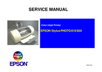 Instrukcja serwisowa Epson Stylus PHOTO 820