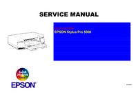 Manual de serviço Epson Stylus Pro 5000