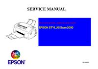 Manual de servicio Epson STYLUS Scan 2000
