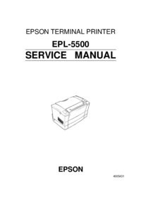 Serviceanleitung Epson EPL-5500