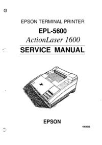 Руководство по техническому обслуживанию Epson EPL-5600