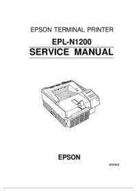 Manuale di servizio Epson EPL-N1200