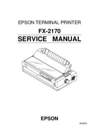 Manuale di servizio Epson FX-2170