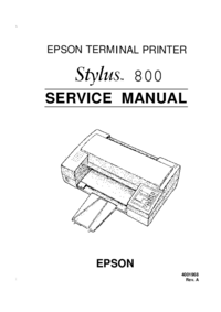 Service Manual Epson Stylus 800