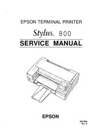 Serviceanleitung Epson Stylus 800