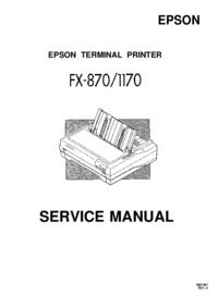 Service Manual Epson FX-870