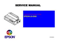 Руководство по техническому обслуживанию Epson LQ-2080