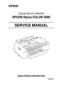 Service Manual Epson Stylus COLOR 3000