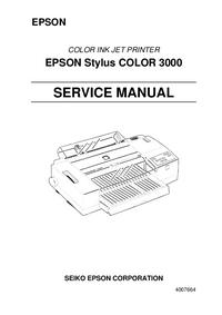 Manuale di servizio Epson Stylus COLOR 3000