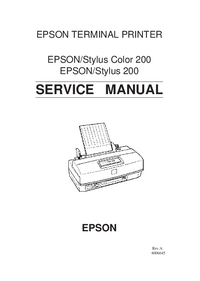 Service Manual Epson Stylus Color 200