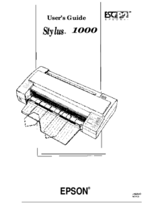 User Manual Epson Stylus 1000