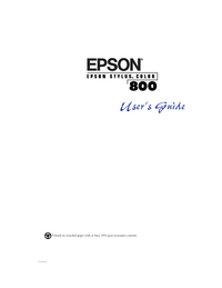 User Manual Epson Stylus Color 800