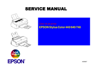 Service Manual Epson Stylus Color 640