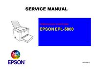 Manual de serviço Epson EPL-5800