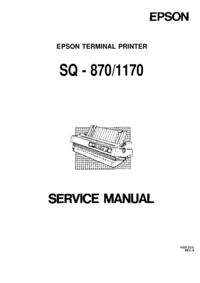 manuel de réparation Epson SQ - 1170