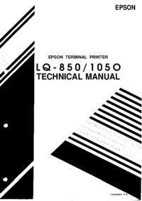 Руководство по техническому обслуживанию Epson LQ-850