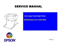manuel de réparation Epson Stylus Pro 7600