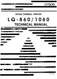 Руководство по техническому обслуживанию Epson LQ-1060