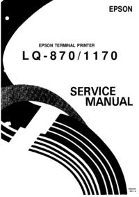 Serviceanleitung Epson LQ-870