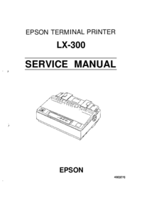 Manual de servicio Epson LX-300