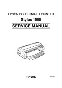 Instrukcja serwisowa Epson Stylus 1500