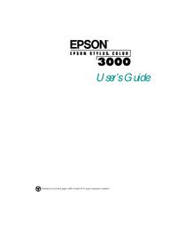 Instrukcja obsługi Epson Stylus COLOR 3000