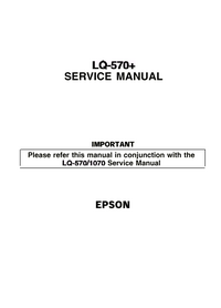 Service Manual Supplement Epson LQ-570+