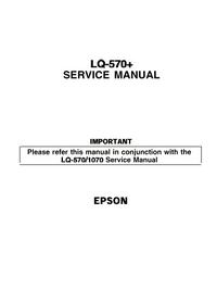 Serviço Manual Supplement Epson LQ-570+