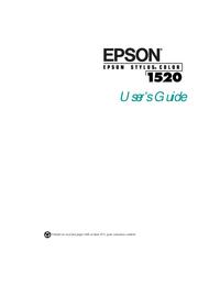 Instrukcja obsługi Epson Stylus Color 1520