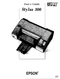 User Manual Epson Stylus 300