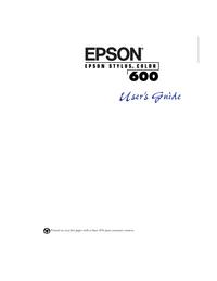 Руководство пользователя Epson Stylus Color 600