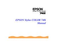 Manuel de l'utilisateur Epson Stylus Color 740i