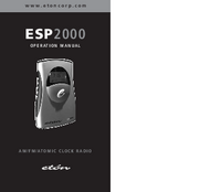 Manual del usuario Eton ESP2000
