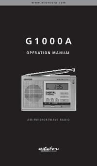 User Manual Eton G1000A