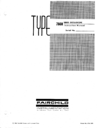 Service and User Manual Fairchild 765MH/F
