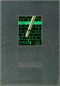 Serviço e Manual do Usuário Fairlight CMI Model IIx